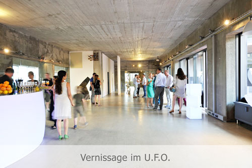 Vernissage im UFO